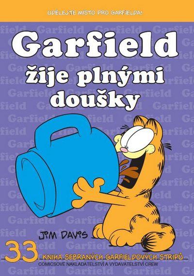 Garfield žije plnými doušky: 33.knihy sebraných Garfieldových stripů - Jim Davis [kniha]